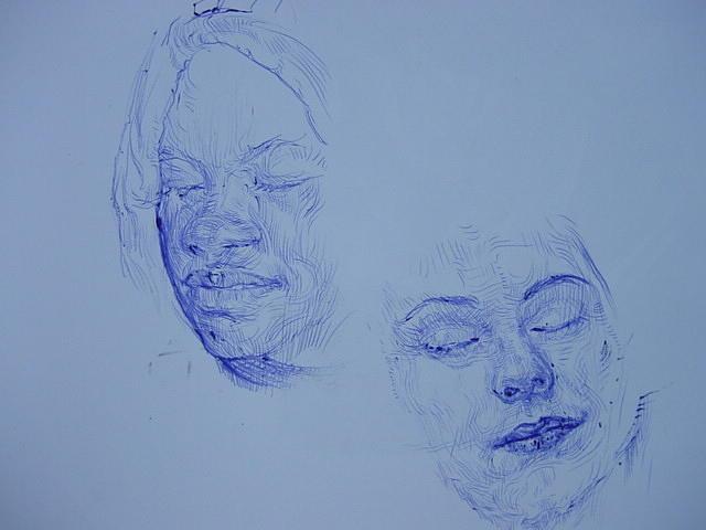 Two Face Drawing by Rungsak Dokbua