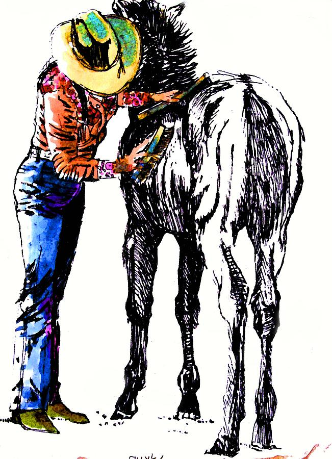 Cowgirl Print - Two Fine Fillies by Martin Goldman