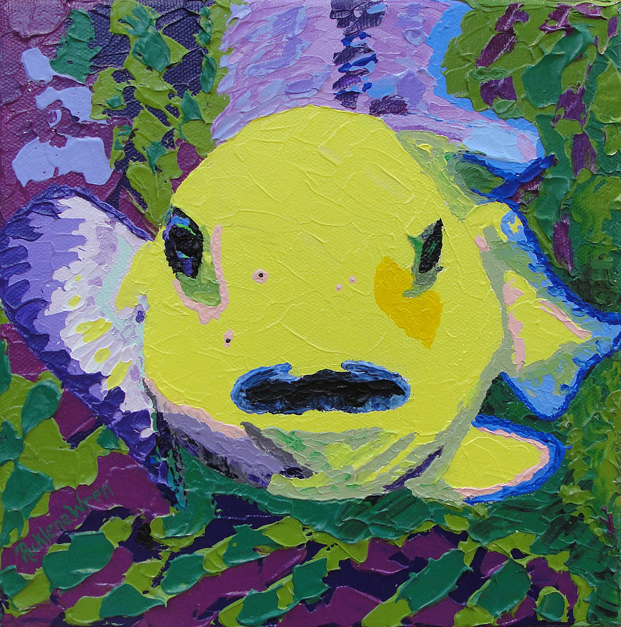 Fish Painting - Two Fish Of One Fish Two Fish Blue Fish Set Of 3 by Ricklene Wren