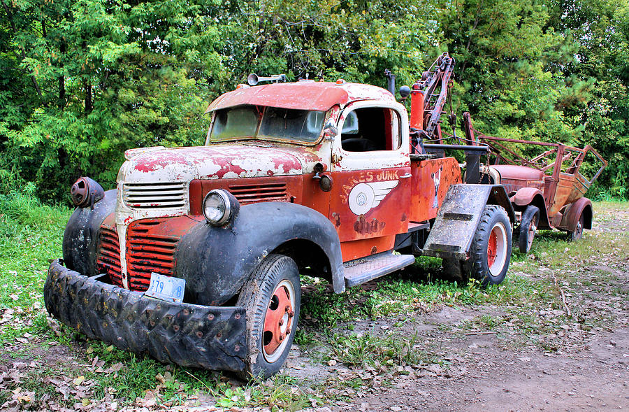 Old Truck Photograph - Two for One by Kristin Elmquist