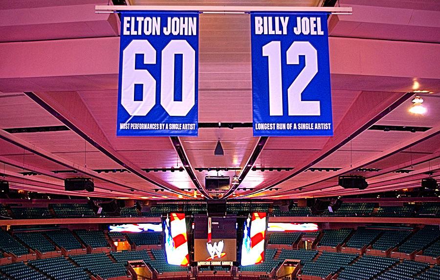 Madison Square Garden Photograph - Two Giants  by Thomas  MacPherson Jr