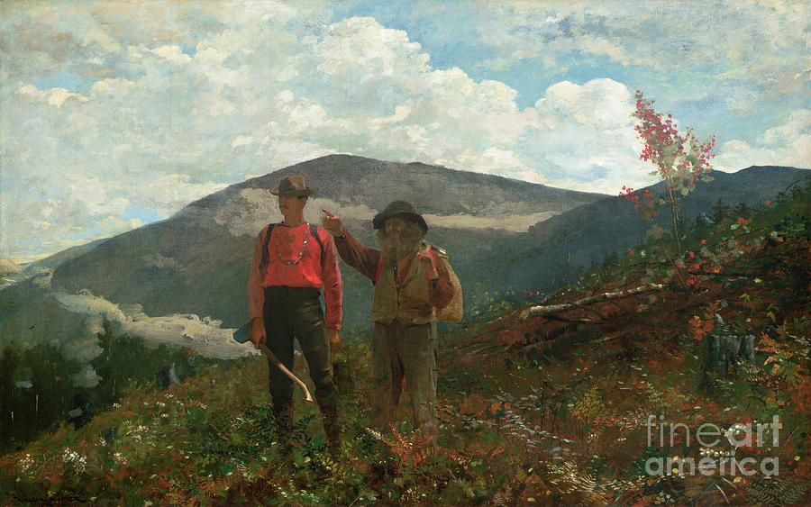 View Painting - Two Guides by Winslow Homer