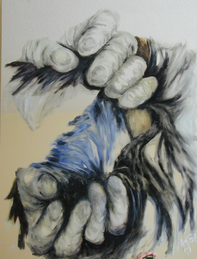 Hand Painting - Two Hands by Heri Hablick