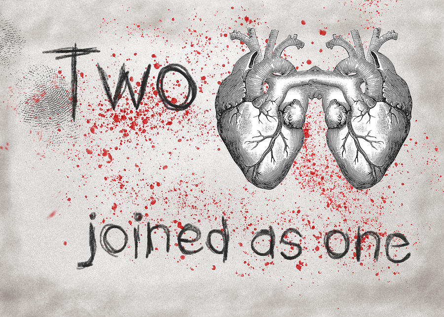 Love Digital Art - Two Hearts Joined As One by Mary Elizabeth Thompson