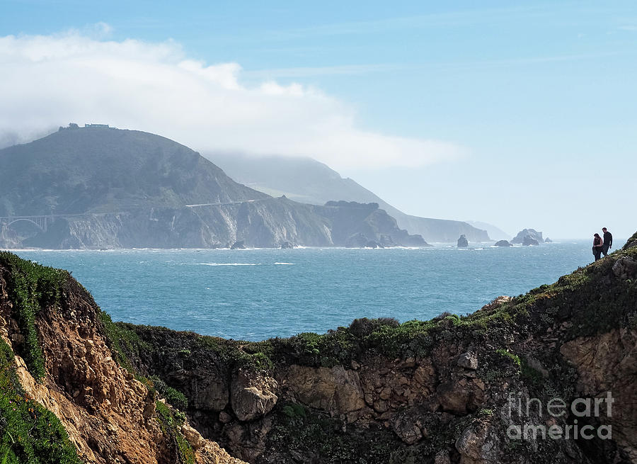Two Hikers on the Rocky Point Trail, Big Sur, CA #30375 by John Bald