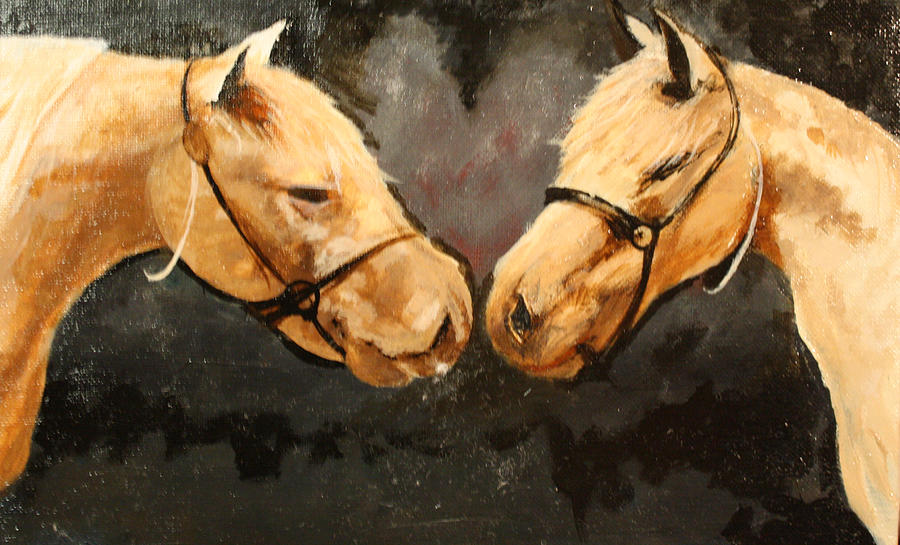 Landscape Painting - Two Horse by Shannon Rains