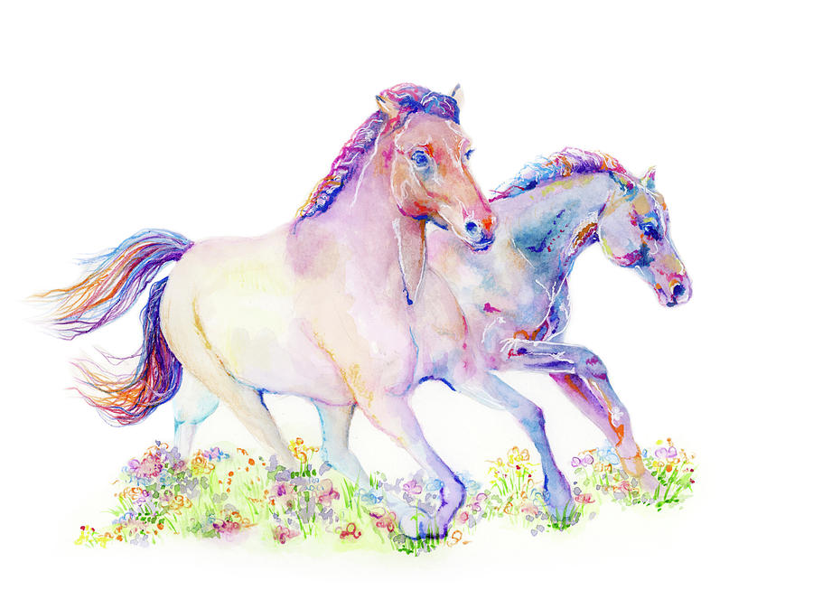Two Horses by Lauren Heller