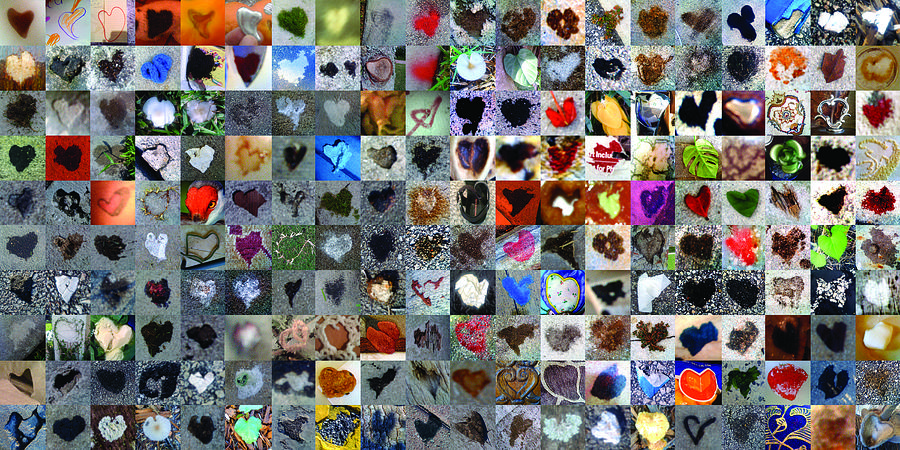 Abstract Hearts Photograph - Two Hundred And One Hearts by Boy Sees Hearts