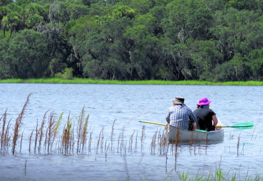 Canoe Photograph - Two In A Canoe by Rosalie Scanlon