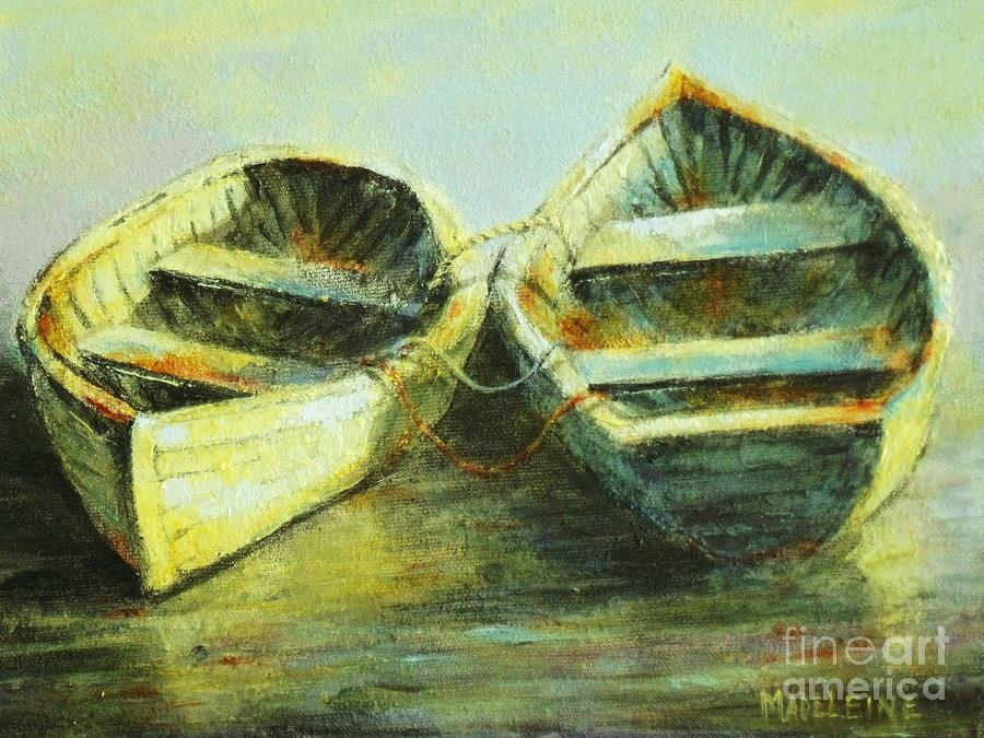 Canvas Prints Painting - Two In A Row by Madeleine Holzberg