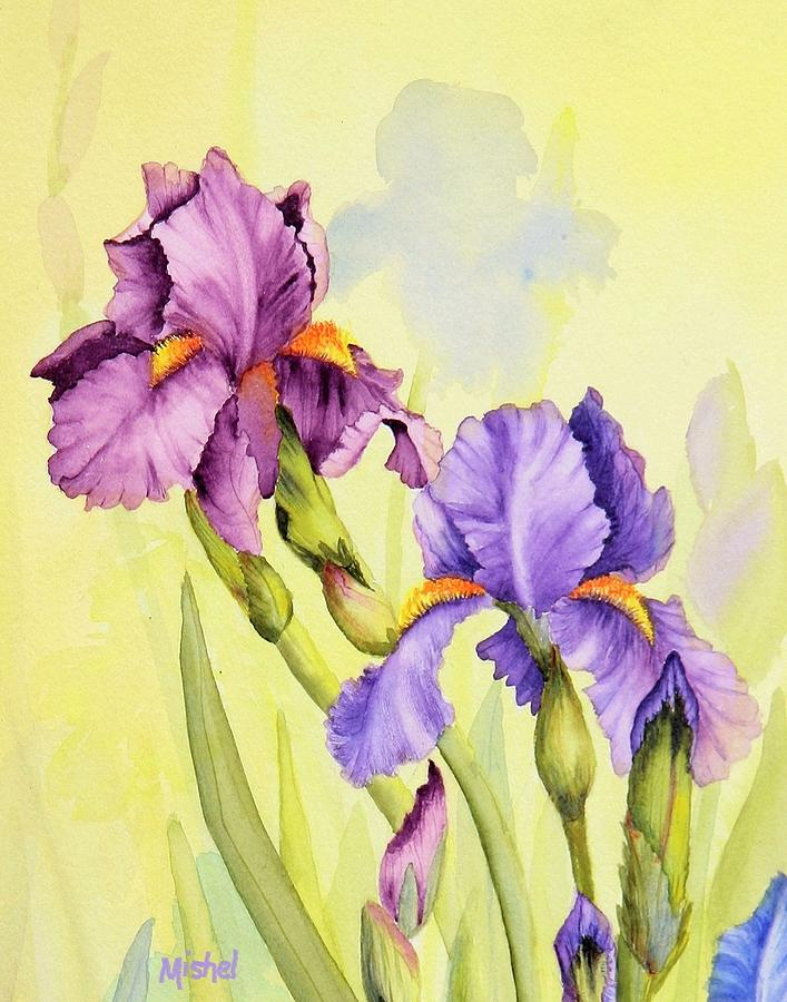 Two Irises  by Mishel Vanderten