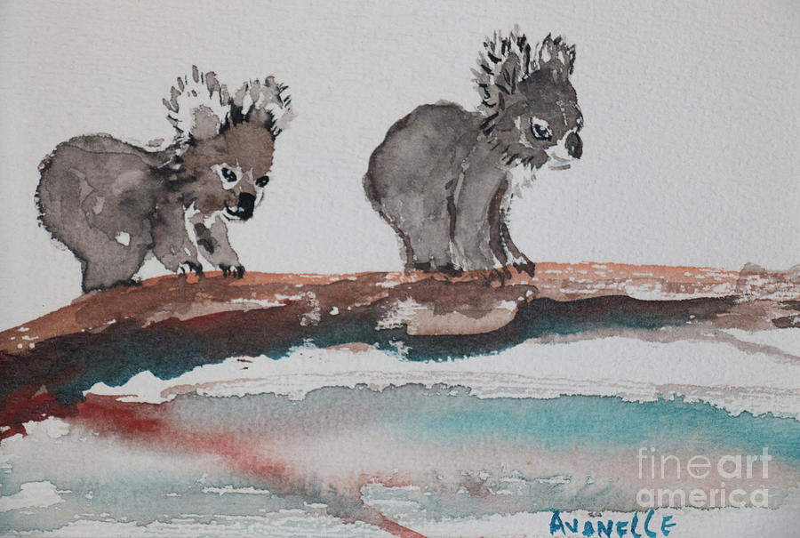 Koala Painting - Two Koalas by Avonelle Kelsey