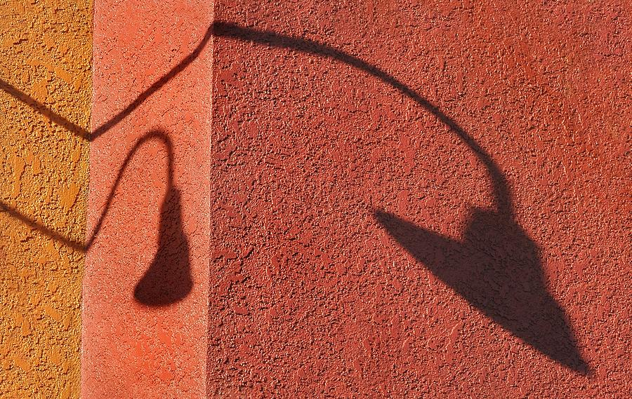 Shadow Photograph - Two Lamps by Dan Holm