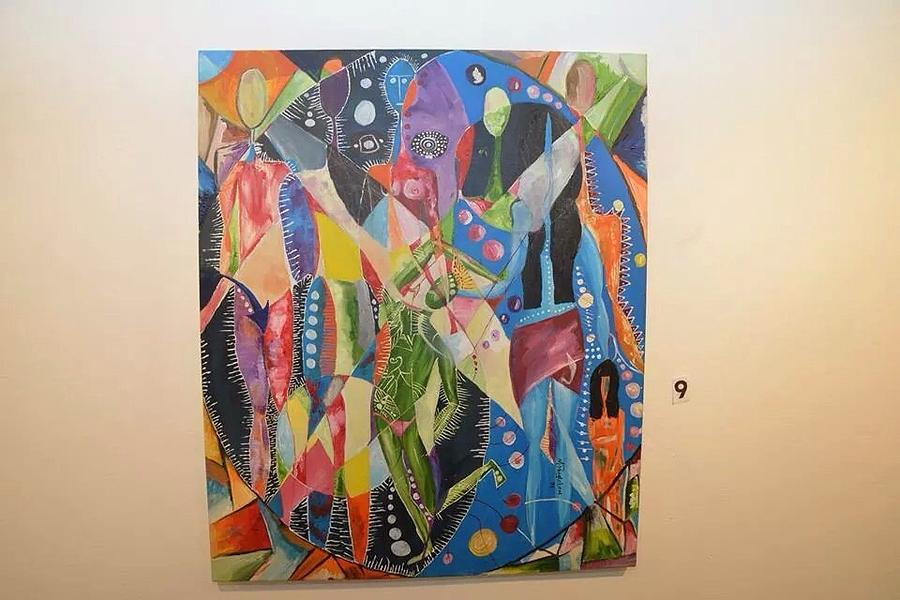 Abstract Painting - Two Lovers by Matthew Dangleben