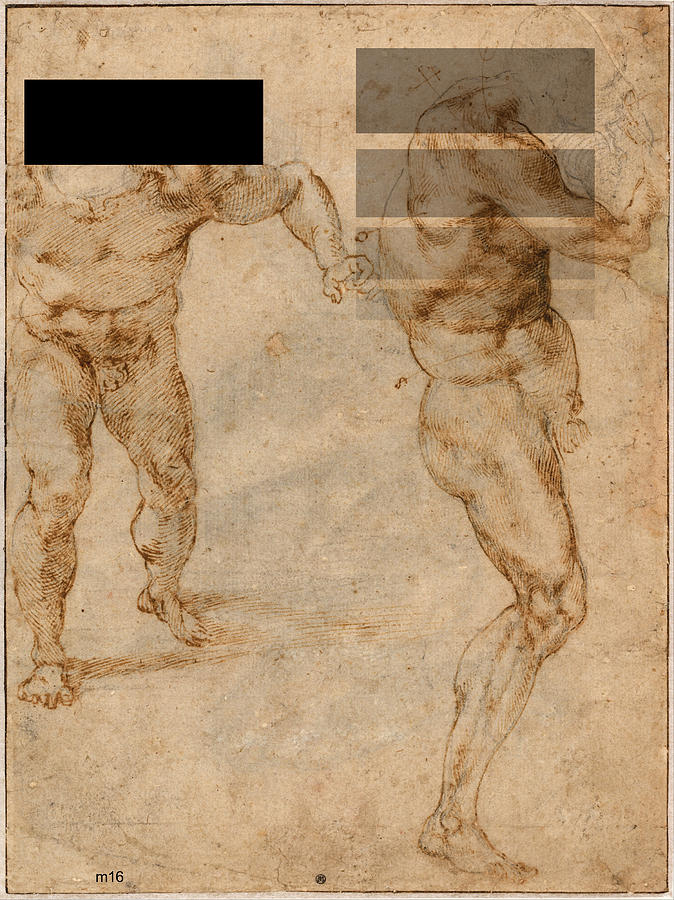 Two Male Nudes Revisited by D A Metrov