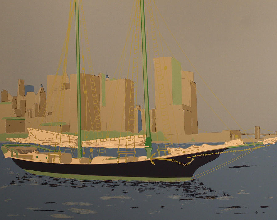 Two Masts Painting by Biagio Civale