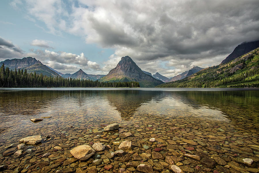 Glacier Photograph - Two Medicine Lake by Peter Tellone