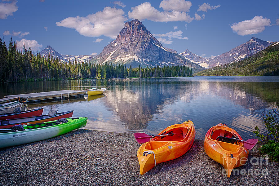 Two Medicine Lake Reflections Photograph