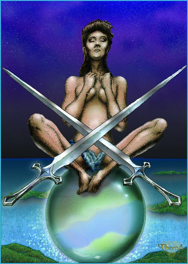 Tarot Digital Art - Two Of Swords by Greg Piszko
