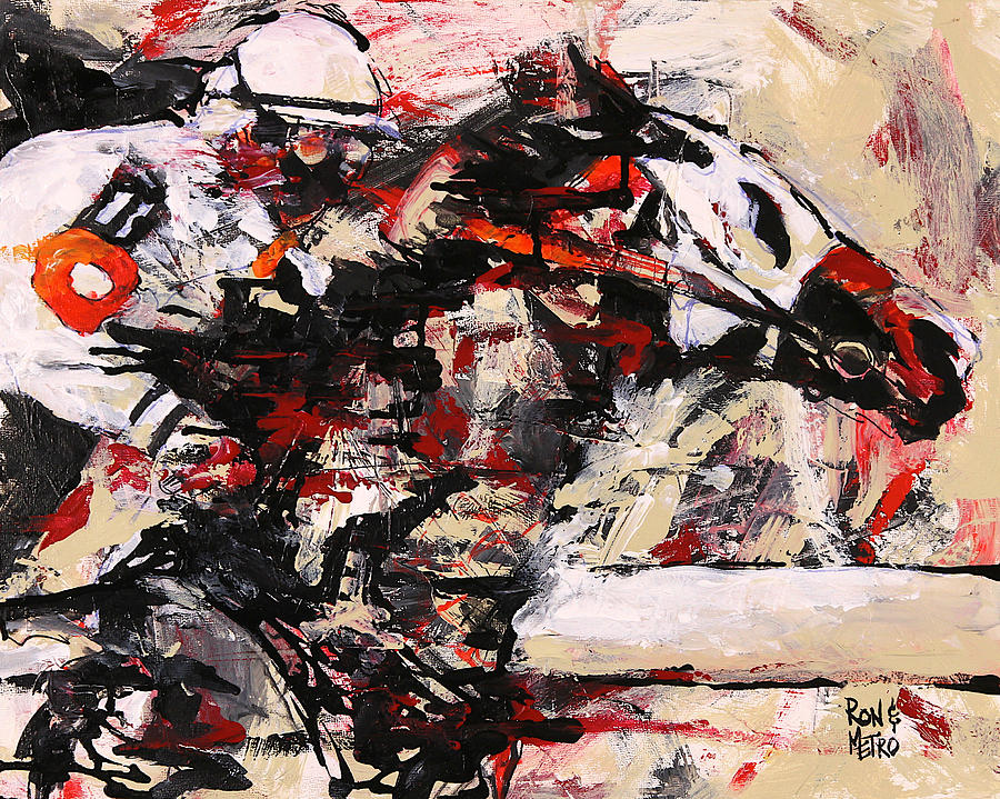 Horse Painting - Two On The Eleven by Ron and Metro