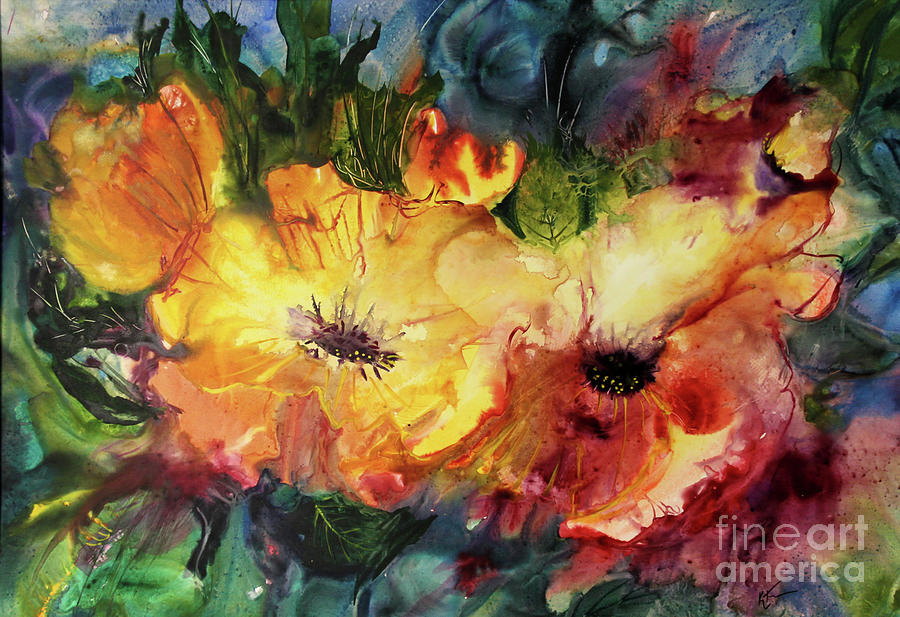 Flowers Painting - Two Or More by Katie Turner
