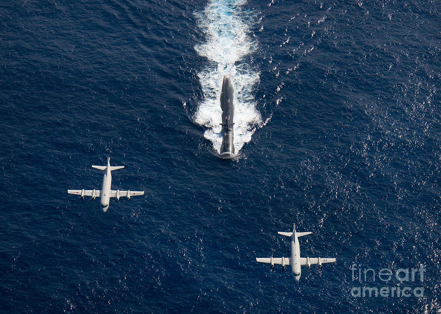 Aircraft Photograph - Two P-3 Orion Maritime Surveillance by Stocktrek Images
