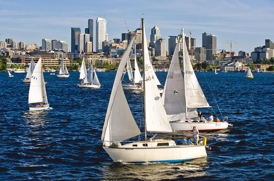 Seattle Photograph - Two Pass By by Tom Dowd