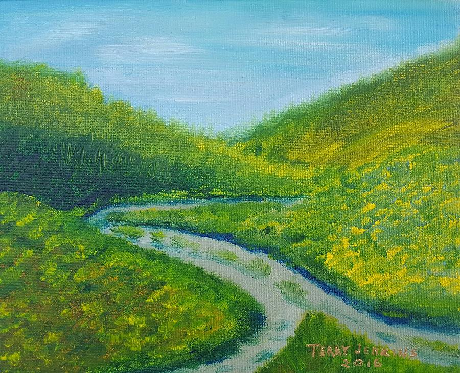 Two Paths Into One Painting By Terry Jenkins
