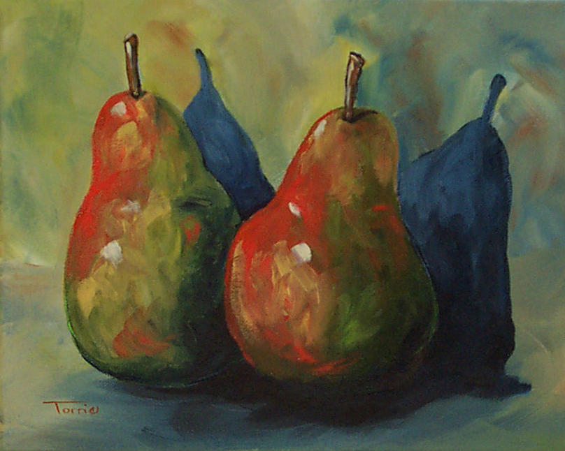 Pear Painting - Two Pears  by Torrie Smiley