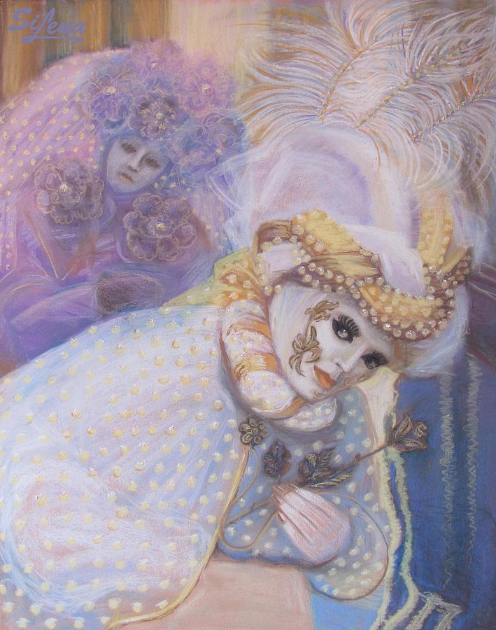 Artist Canvas Prints Pastel - Two People Looking by Elena Simonenko