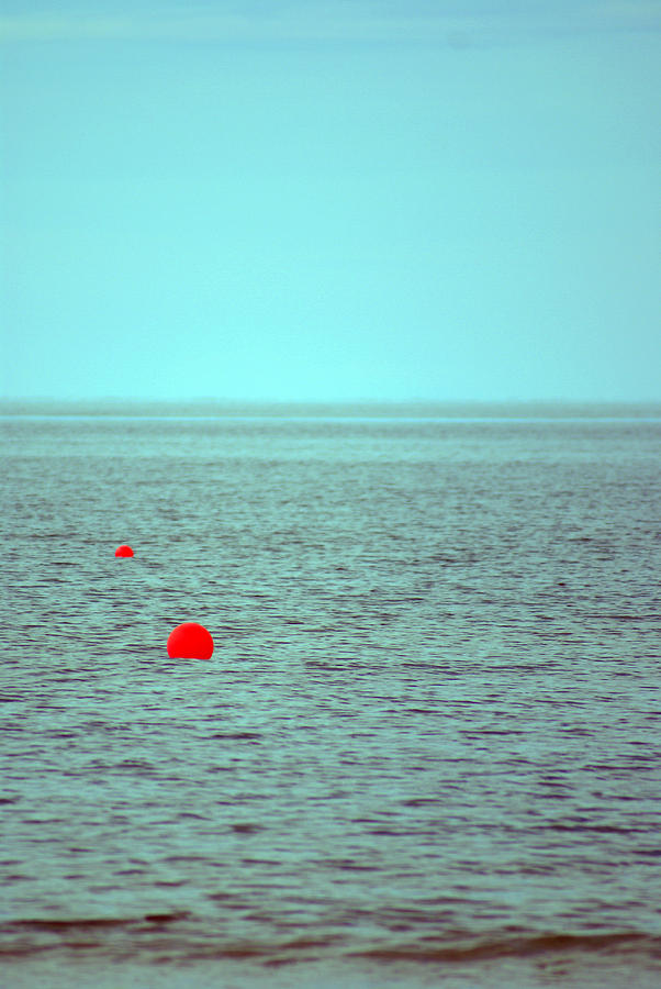 Sea Photograph - Two Red Points... by Vadim Grabbe
