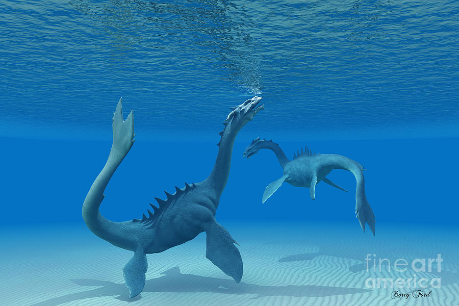 Sea Dragon Painting - Two Sea Dragons by Corey Ford