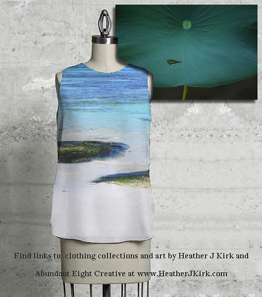 Two Seaweed Mounds Sleeveless Top and In the Palm of His Hand by Heather Kirk