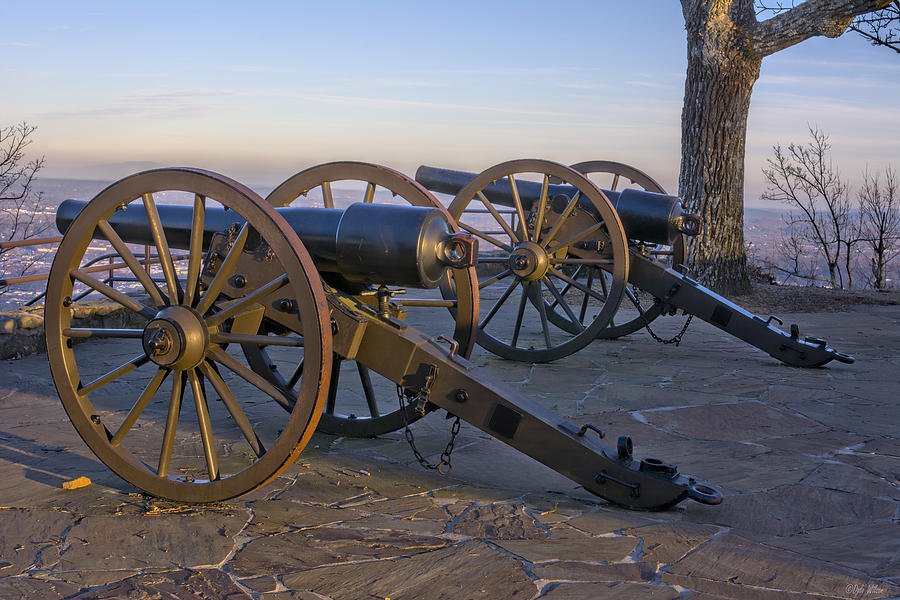 Cannon Photograph - Two Sentinels by Dale Wilson
