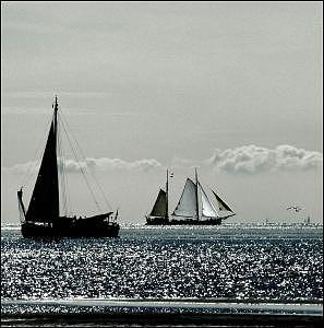 Two Ships Photograph by PJ Steinmeijer
