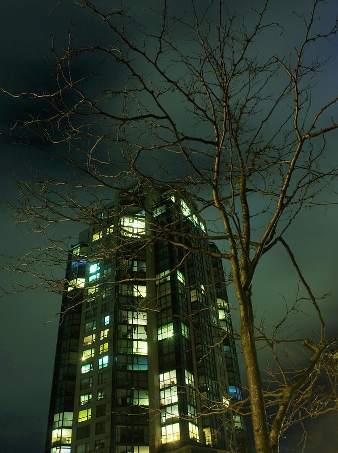 Skyscraper Photograph - Two Skyscrapers by Barbara  White