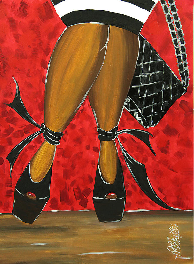 Aliya Painting - Two Stepping by Aliya Michelle