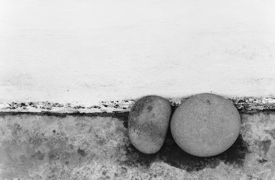 Abstract Photograph - Two Stones - Sao Miguel - Azores by Henry Krauzyk
