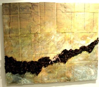 Abstract Mixed Media - Two Thousand And Seven  Number Three by Henry Klimowicz