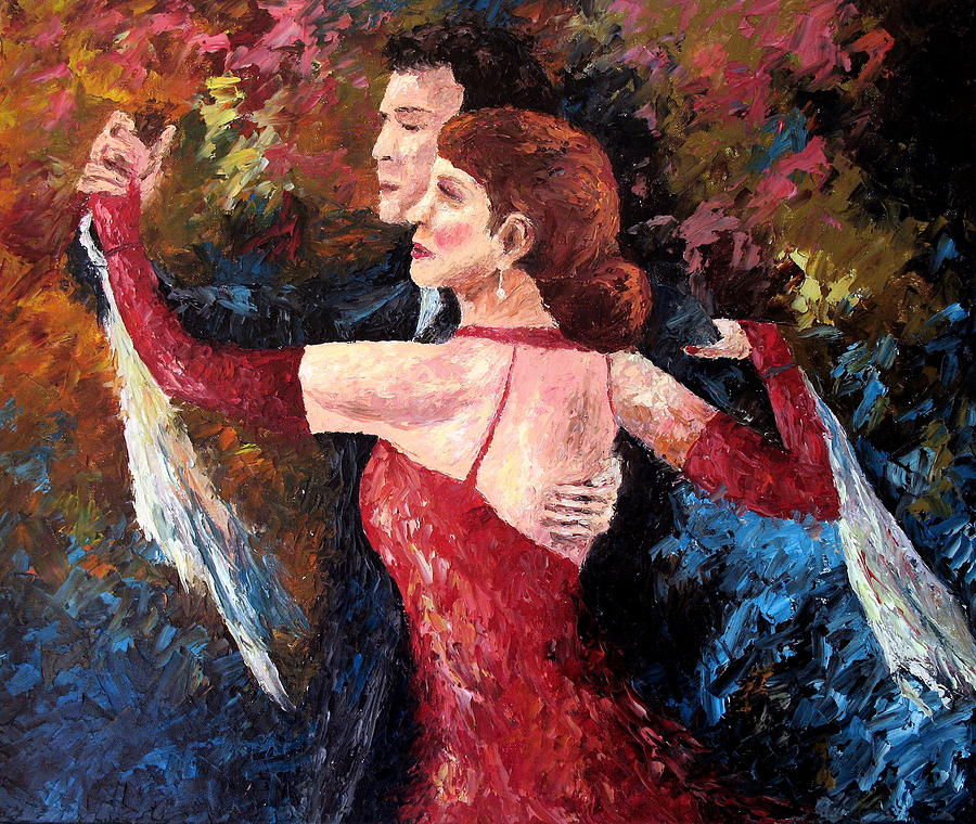Tango Painting - Two To Tango by David G Paul