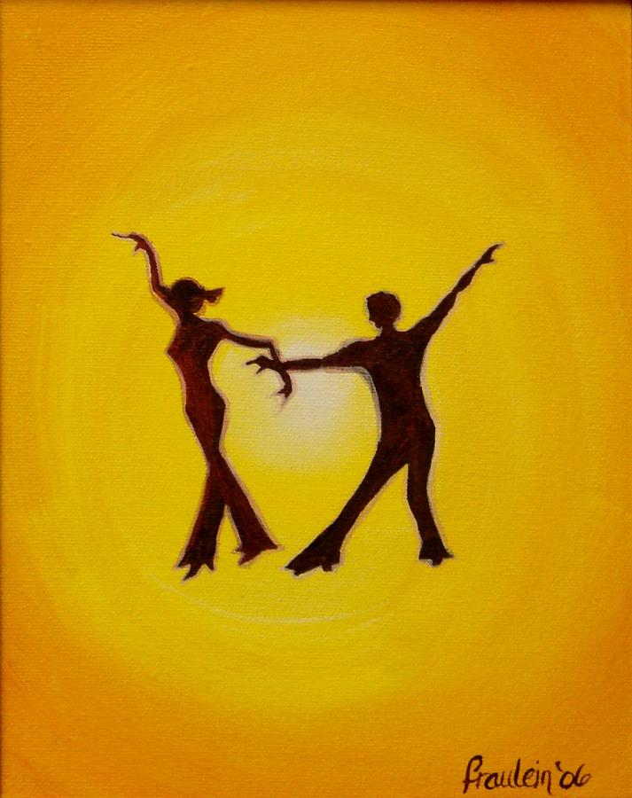 Contemporary Painting - Two to Tango by Glory Fraulein Wolfe