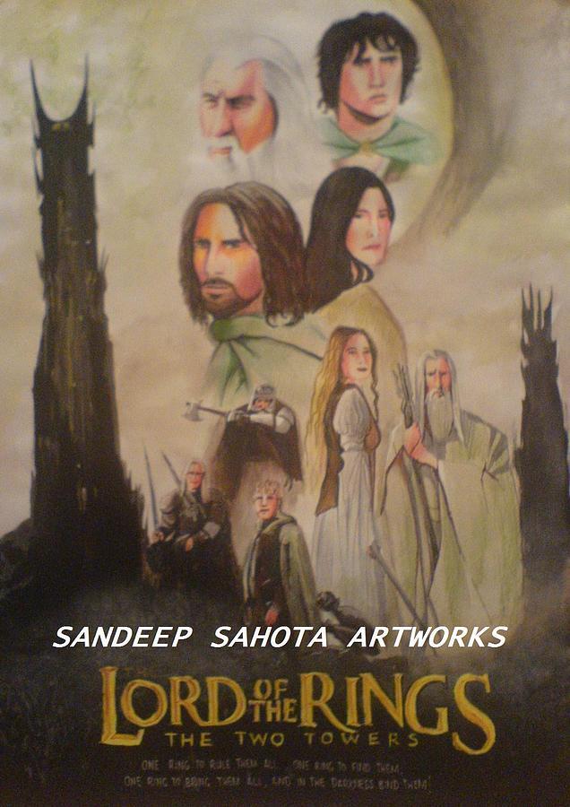 Tom Cruise Painting - Two Towers by Sandeep Kumar Sahota