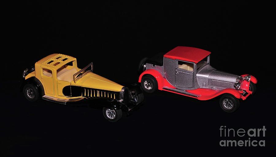 Two Photograph - Two Vintage Cars Models  by Akshay Thaker- PhotOvation