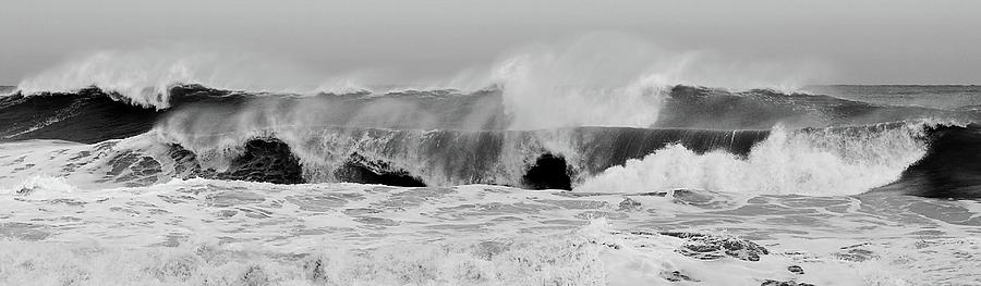 Two Waves Photograph - Two Waves Are Better Than One - Jersey Shore by Angie Tirado