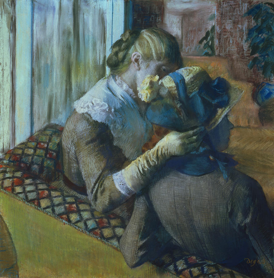 Two Painting - Two Women by Edgar Degas