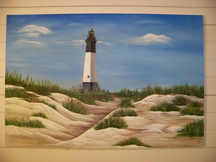 Landscape Painting - Tybee Island Lighthouse by Joan Exley