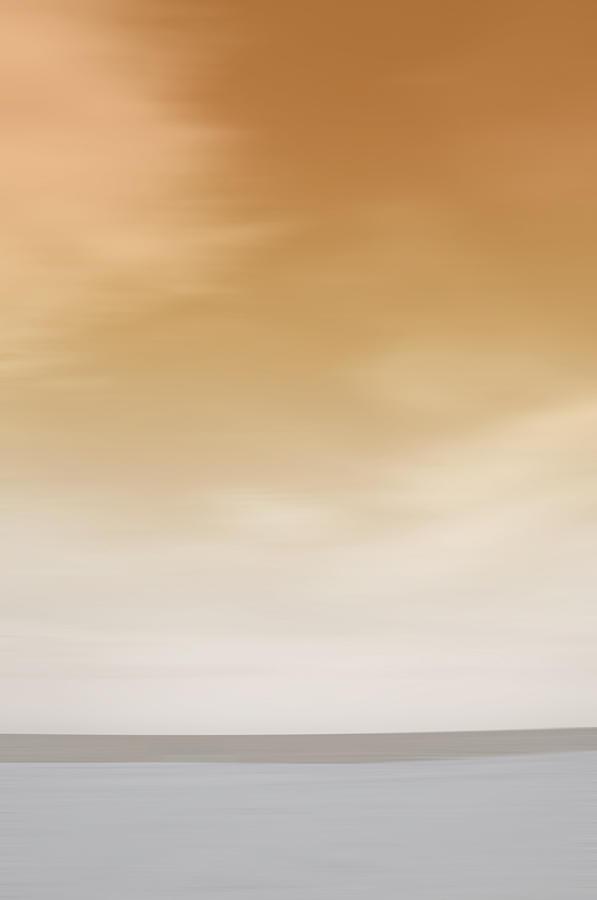 Orange Painting - Tybee Island Orange Sunset by Andrea LaRayne Etzel