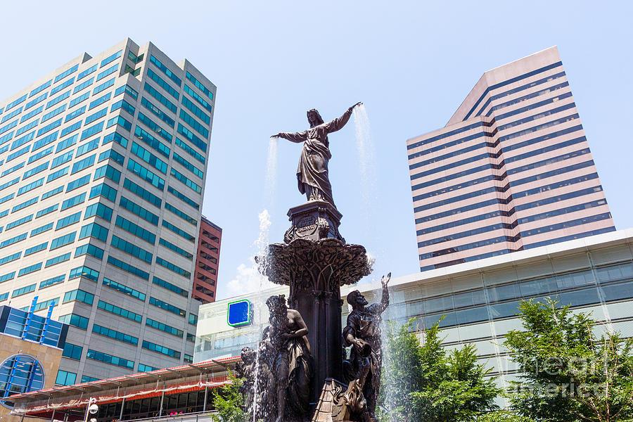 2012 Photograph - Tyler Davidson Fountain Cincinnati Ohio  by Paul Velgos