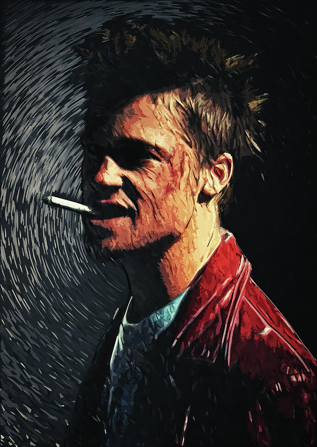 Fight Club Digital Art - Tyler Durden by Zapista Zapista