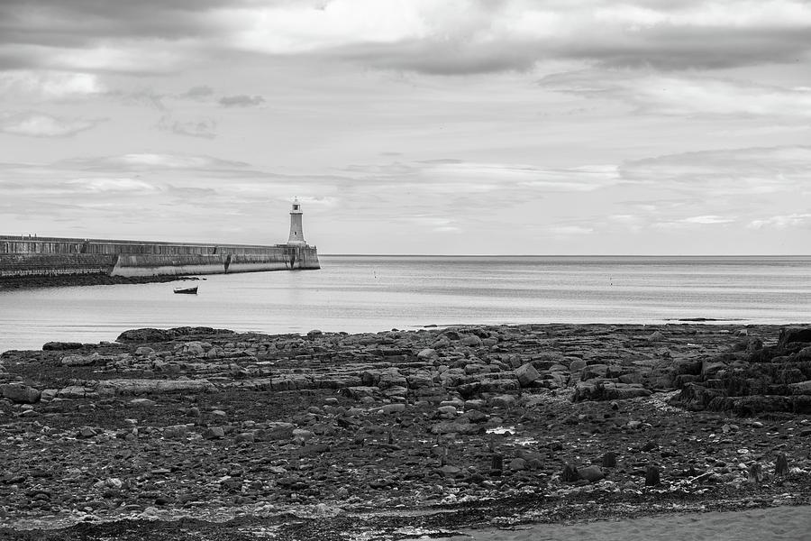 Sea Photograph - Tynemouth Pier Landscape In Monochrome by Iordanis Pallikaras